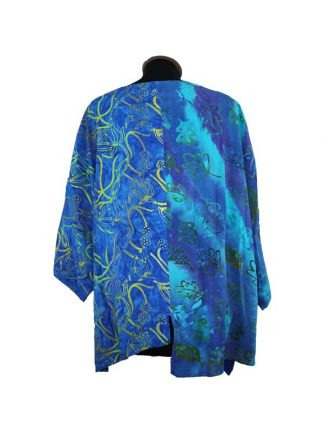 patchwork top blauw achterkant