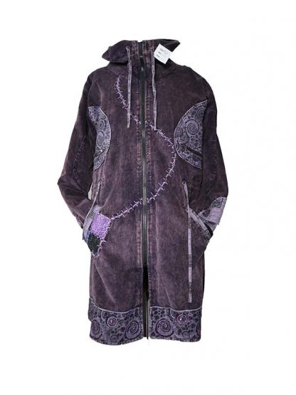 paarse corduroy jas