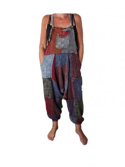 patchwork harem tuinbroek