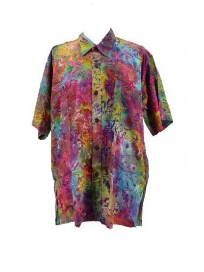 Herenbloes batik maat L/XL