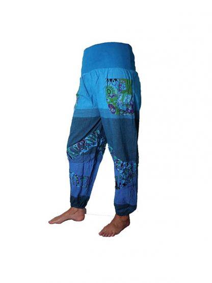 broek patches blauw