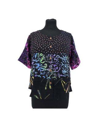 kort batik bloesje kleur 1