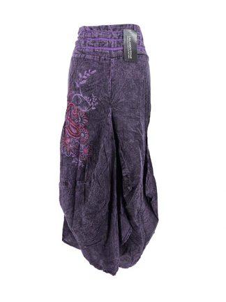 paarse lange rok