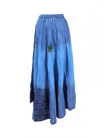 Lange blauwe rok verloop 3