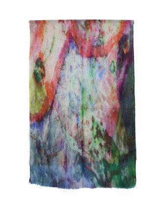kleurrijke sjaal linnen