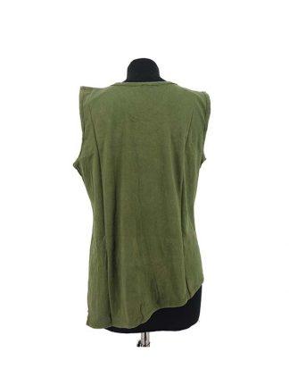 Mouwloos shirt groen achterkant