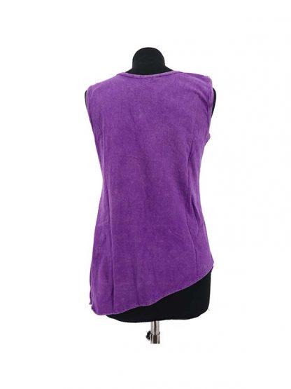 Mouwloos shirt paars achterkant