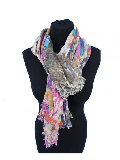 wollen sjaal panterprint
