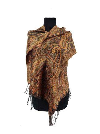 goudkleurig zijden sjaaltje