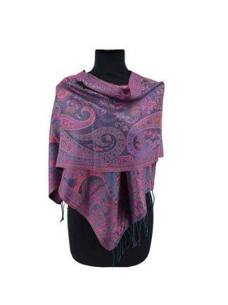 paarse zijden sjaal