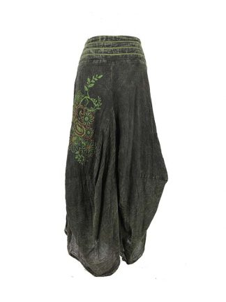 lange groene rok