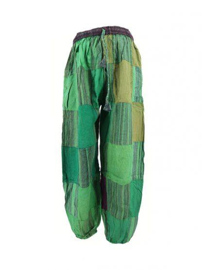 indiabroek groen patchwork voorkant