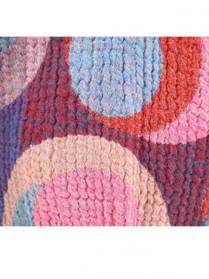 Warme wollen sjaal detail
