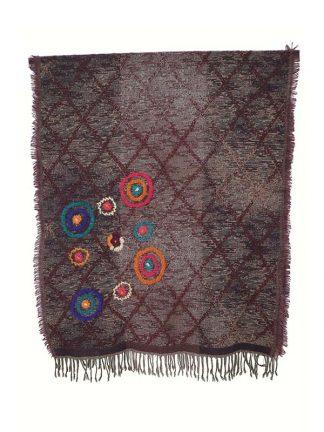 bruine wollen sjaal