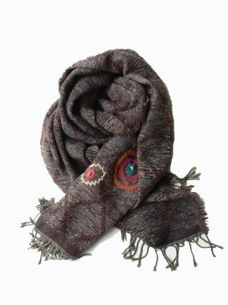 bruine wollen shawl
