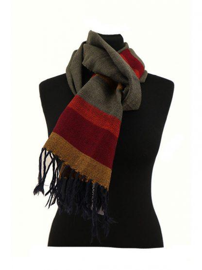 wollen handgeweven sjaal