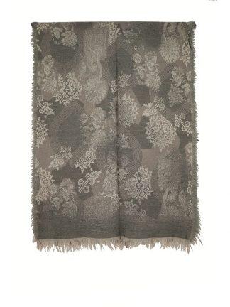 grijze wollen shawl d