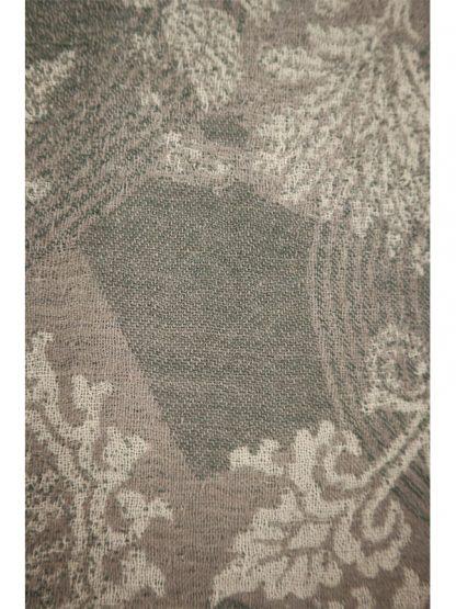 grijze wollen shawl e