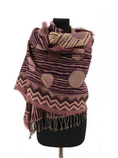 paarsroze wollen shawl