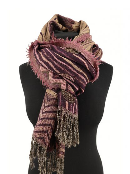 paars roze wollen shawl b