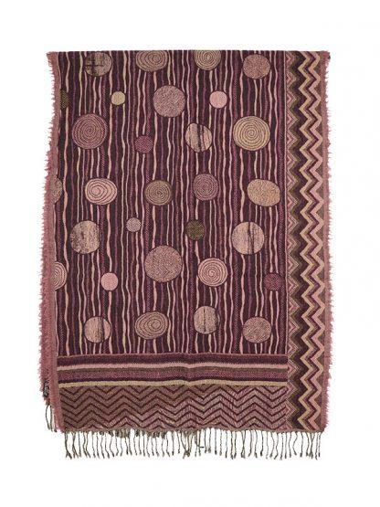 paars roze wollen shawl d