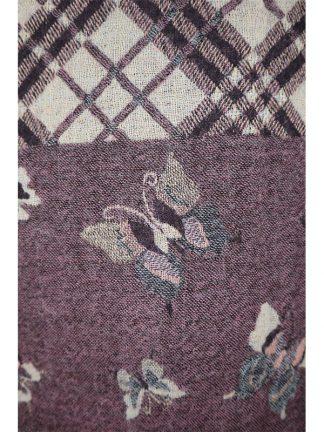 paarse wollen shawl met vlinders d