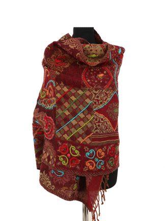 donkerrode kasjmier sjaal