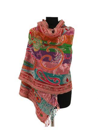 kleurrijke kasjmier sjaal