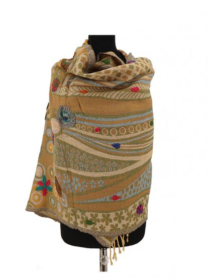 lichtbruine kasjmier sjaal