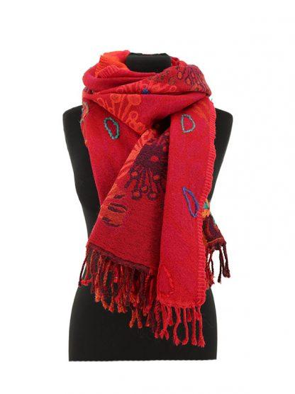 kasjmier sjaal rood