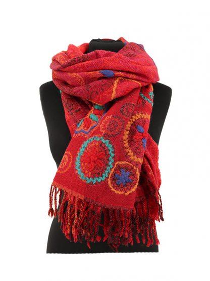 rode kasjmier sjaal