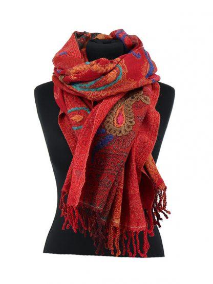 warmrode kasjmier sjaal
