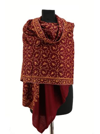 pashmina shawl met borduurwerk