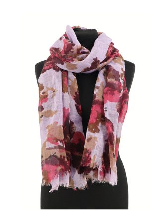 sjaal met bloemenprint