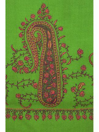 groene wollen sjaal