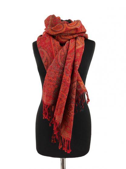 wollen sjaal aardetinten
