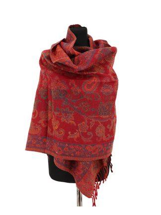 wollen jamawar sjaal