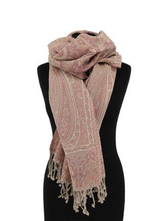 oudroze jamawar sjaal