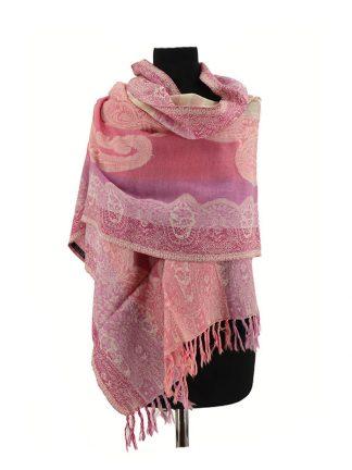 rose wollen sjaal