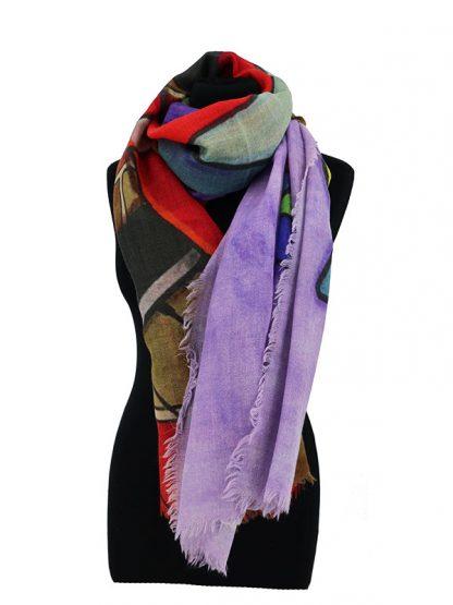 grote wollen sjaal met kat