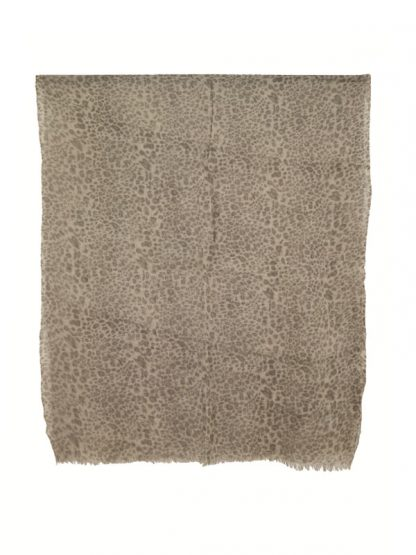 Wollen sjaal met dierenprint c