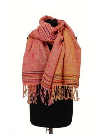 zalmkleurige sjaal