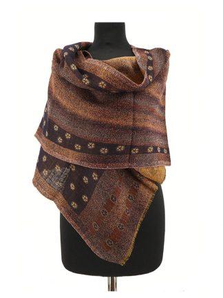 wollen sjaal bruin