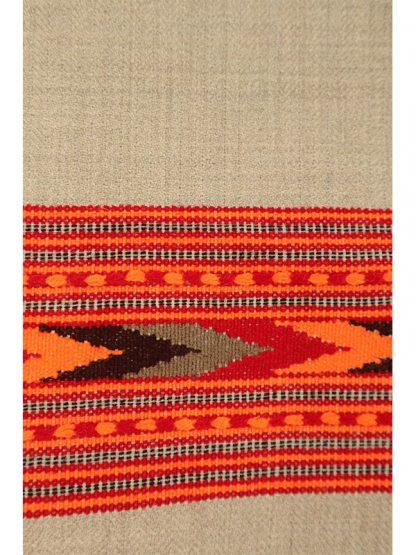 grote beige wollen shawl c