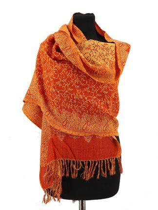 wollen sjaal oranje