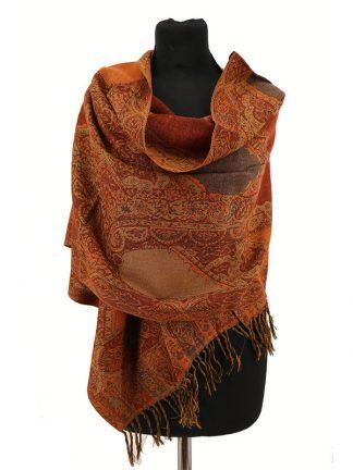 roestkleurige wollen shawl a