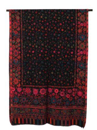 zwarte kani sjaal voorkant