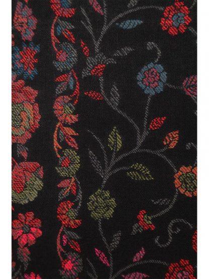 zwarte kani sjaal detail