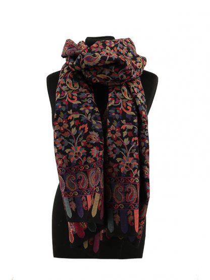 zwarte kani shawl