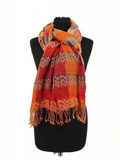wollen zigzag sjaal